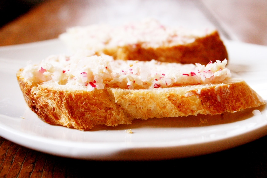Radish Butter with Baguette Slices - Nicki SizemoreNicki Sizemore