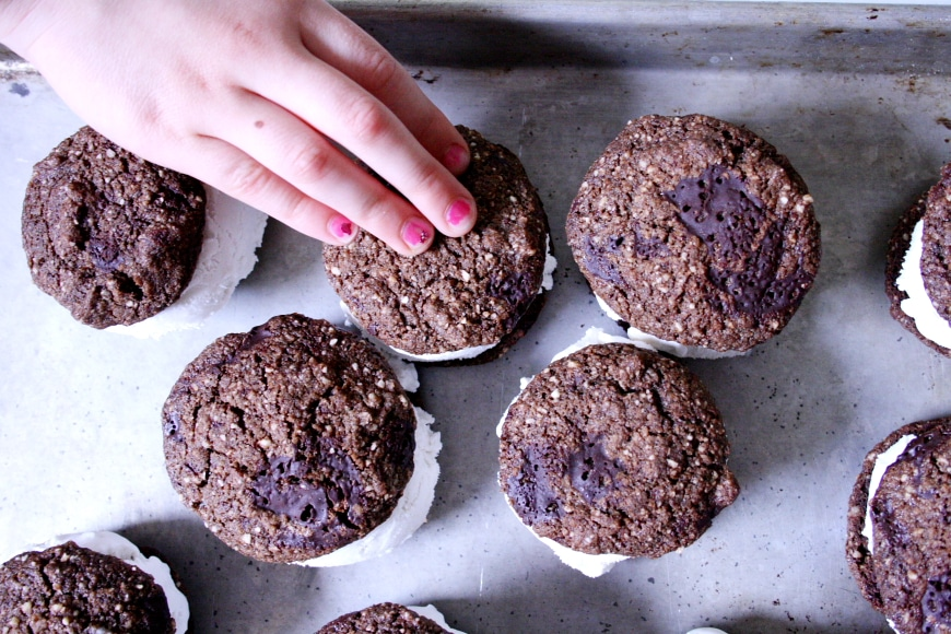 Chocolate Coconut Ice Cream Sandwiches (GF, Vegan)Nicki Sizemore