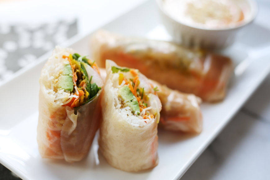 Shrimp Summer Rolls (or Winter Rolls!) with a Creamy ...