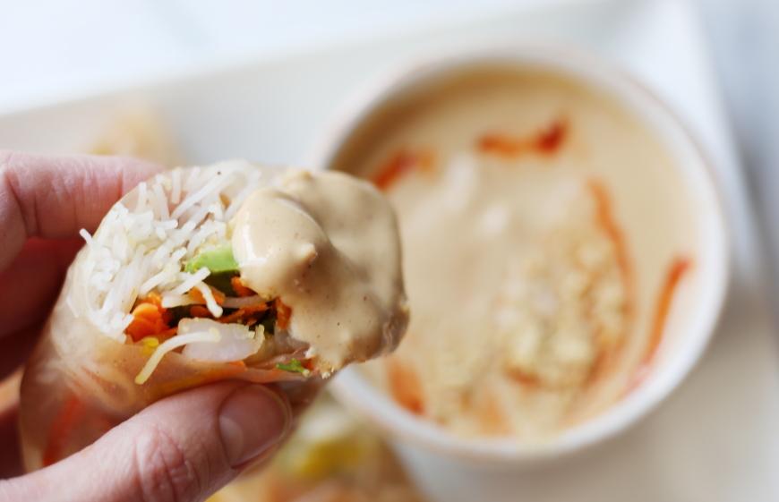 Shrimp Summer Rolls (or Winter Rolls!) with a Creamy Peanut SauceNicki ...