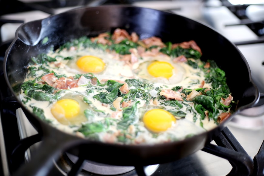 Simple Baked Eggs Recipe : Spinach Baked Eggs